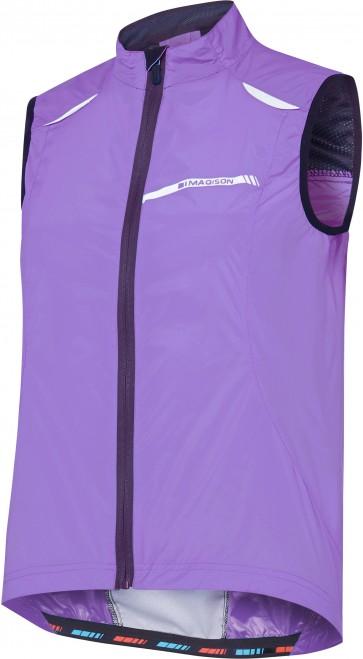 Madison Women's Sportive Windproof Gilet Purple