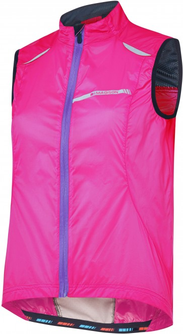 Madison Women's Sportive Windproof Gilet Pink