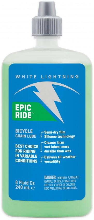 White Lightning Epic Ride Squeeze Bottle 240ml