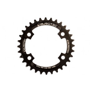 Burgtec Thick Thin 96/64 PCD Black Chainring