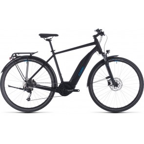 Cube Touring Hybrid One 400 2020 Black/Blue eBike