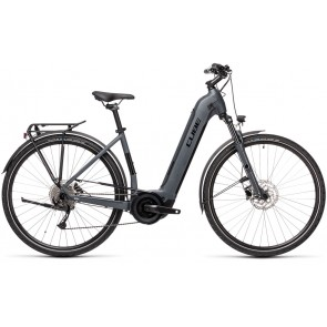 Cube Touring Hybrid One 400 2021 Easy Entry Grey/Black eBike