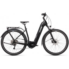 Cube Touring Hybrid Pro 500 2021 Easy Entry Black/White eBike