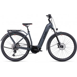 Cube Touring Hybrid Exc 500 2022 Easy Entry Grey/Red eBike
