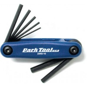 Park Tool USA AWS-10 - Fold-up Hex Wrench Set: 1.5 to 6 mm