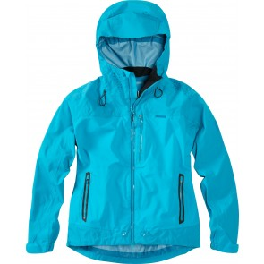 Madison DTE women's waterproof jacket, caribbean blue
