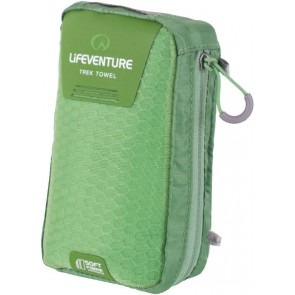 LifeVenture SoftFibre Trek Towel - Large - Green