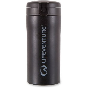 LifeVenture Flip-Top Thermal Mug - Black