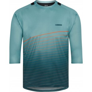 Madison Men's Flux 3/4 Sleeve Jersey Blue/Coral