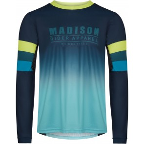 Madison Men's Alpine Long Sleeve Jersey Navy/Lime