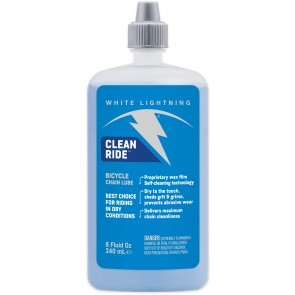White Lightning Clean Ride Squeeze Bottle 240ml