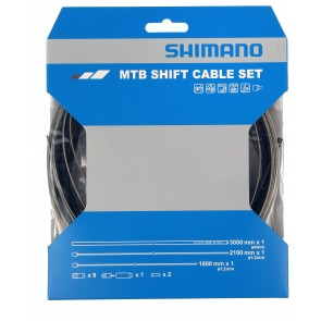 Shimano MTB Gear Cable Set Black