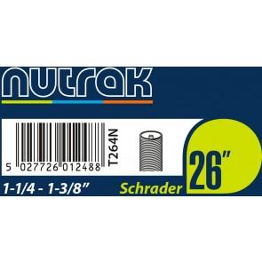 """Nutrak Schrader Inner Tube 26 x 1-1/4"""" - 1-3/8"""""""